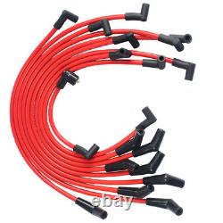 Red 10.5mm JDMSPEED Racing Spark Plug Wires Set for Ford 5.0L 5.8L, SB SBF 302