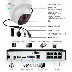 Reolink 8CH POE 5MP Security Camera System Kit 2TB HDD NVR Video RLK8-520D4-5MP