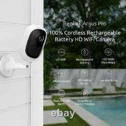 Reolink Argus Pro WiFi IP Security Camera 1080p Battery Powered with Solar Panel