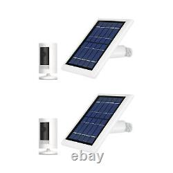Ring Stick Up Cam Battery with Solar Panel Bundle Deal Camera (2 Pack, White)