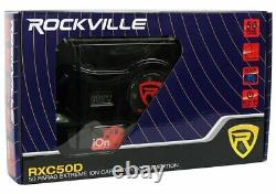 Rockville 50 Farad Hybrid LED Car Capacitor withDual Meters+0 Gauge Amp Wire Kit