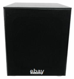 Rockville Rock Shaker 10 Inch Black 600w Powered Home Theater Subwoofer Sub