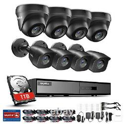 SANNCE 5in1 8CH DVR 1080P Security Camera System CCTV Outdoor EXIR Night Vision