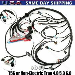 STANDALONE WIRING HARNESS T56 or Non-Electric Tran 4.8 5.3 6.0 1997-2006 DBC LS1