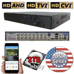 Sikker 16 Ch Channel wired BNC DVR recorder 960H 720P 1080P with 2TB hard drive