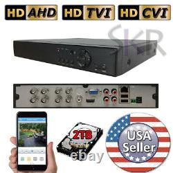 Sikker Standalone 8CH channel 1080P BNC wired DVR System with 2TB hard drive