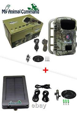 Solar Powered Game Trail Security Spy Camera Waterproof Stealth IR Night Vision