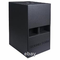 Sound Town 12 800W Powered Active PA DJ Folded Horn Subwoofer (CARME-112SPW)