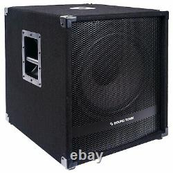 Sound Town METIS 1800W 15 Powered Subwoofer with Class-D Amplifier (METIS-15SDPW)