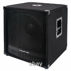 Sound Town METIS 2400W 18 Powered Subwoofer with Class-D Amplifier METIS-18SDPW