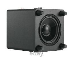 TDX 8-Inch Down Firing Powered Subwoofer Home Theater Surround Sound Black 8