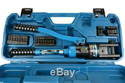 TEMCo 6 ga- 600 mcm HYDRAULIC LUG CRIMPER TOOL Electrical Terminal Cable Wire