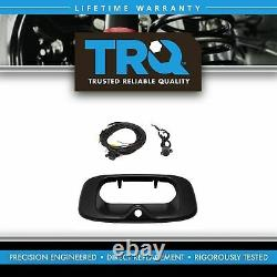 TRQ Rear View Backup Camera Addon Kit with Wiring & Handle Bezel for GM Truck