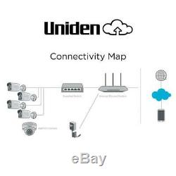 Uniden UC8800 8-Camera 1080p Outdoor Security Cloud System with 9-Port PoE
