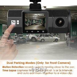 Vantrue N2 Dual Dash Cam-1080P FHD +HDR Front and Back Wide Angle Dual Lens