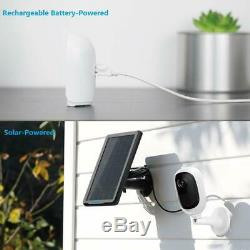 Wireless Wifi Security Camera 1080P Rechargeable Battery Argus 2 + Solar Panel
