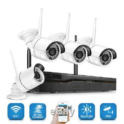 Xtech 4CH Wireless 1080P NVR Outdoor indoor WIFI Camera CCTV Security System Kit