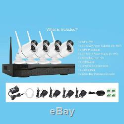 Xtech Wireless 4CH 1080P NVR Outdoor indoor WIFI Camera CCTV Security System Kit