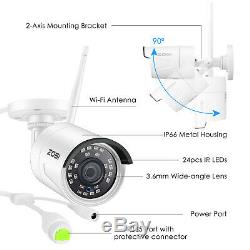 ZOSI 2MP Wireless Security Camera System 1080p 8CH WIFI NVR with Hard Drive 1TB