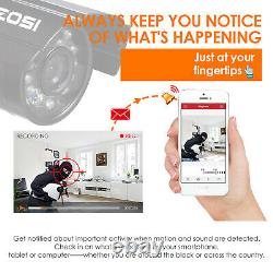 ZOSI 8CH 720p DVR 1.0MP Outdoor Day Night Security Camera System 8 ch Kit
