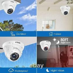ZOSI 8CH HD HDMI DVR CCTV 1080P Security Camera Outdoor System Motion Detection