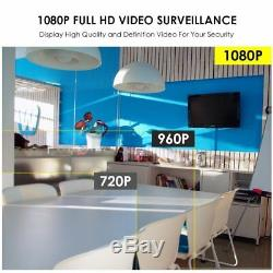 ZOSI 8 Channel HD 1080P Wireless Network IP Security Camera System Outdoor 2TB