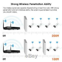 ZOSI 960P Wireless Security IP Camera System 8CH 1080p WIFI NVR Night Vision