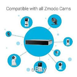Zmodo 8CH 1080P NVR 4 PoE+2 Wireless Audio Camera Security System 1TB withRepeater